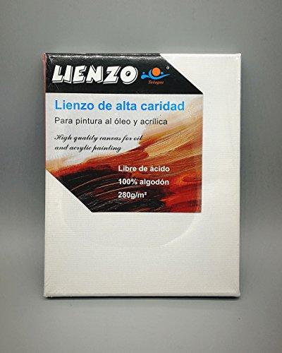 Lienzos blancos preestirados Panel de lona tensada 100% algodón con  bastidores robustos Ácid-free