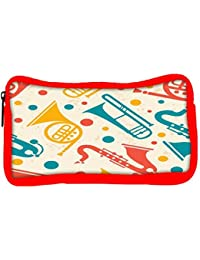 Snoogg Eco Friendly Canvas Pipe Set Designer Student Pen Pencil Case Coin Purse Pouch Cosmetic Makeup Bag