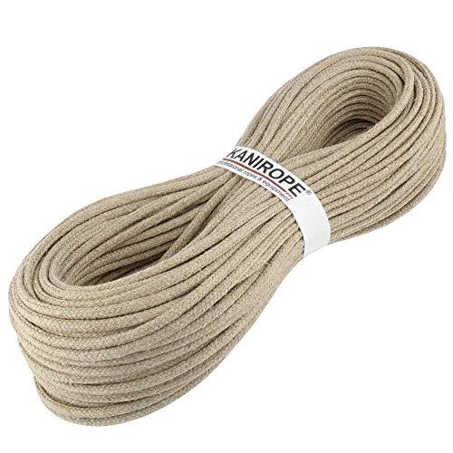 Kanirope® Hanfseil Seil Hanf HEMPBRAID 4mm 20m 8-fach geflochten -