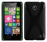 Nokia Lumia 630 / 635 Silikon-Hülle in SCHWARZ von