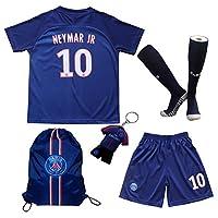 LES TRICOT 2018/2019 Paris Home #10 NEYMAR JR. Football Futbol Soccer Kids Jersey Shorts Socks Set Youth Sizes 13-14 YEARS