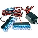 EUFAB 17693 Lampe stroboscopique 6 LED bleues