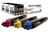 3 Original Reton Toner kompatibel nach (ISO-Norm 19798) ersetzten TK-580C, TK-580M, TK-580Y für Kyocera FS-C5150DN/Kyocera ECOSYS P6021CDN (Cyan,Magneta,Yellow je 2800 Seiten)