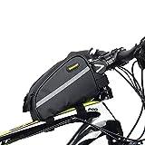 Borsa Telaio Bici MTB BMX Bicicletta Frontale Borsa Impermeabile Borsa del Tubo Bici per Telefono Cellulare Sacchetto di Stoccaggio, Nero