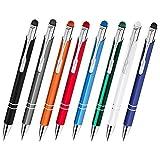 Creativgravur Aluminium - Kugelschreiber Cosmo mit Touchpen Funktion Lasergravur Sortenrein o. Gemischt einheitl. Gravur 8 Farben, Menge:10 Stück