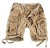 Surplus Herren Airborne Vintage Cargo Shorts, Beige, Gr. XL
