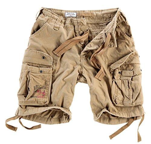 Surplus Herren Airborne Vintage Cargo Shorts, Beige, Gr. L