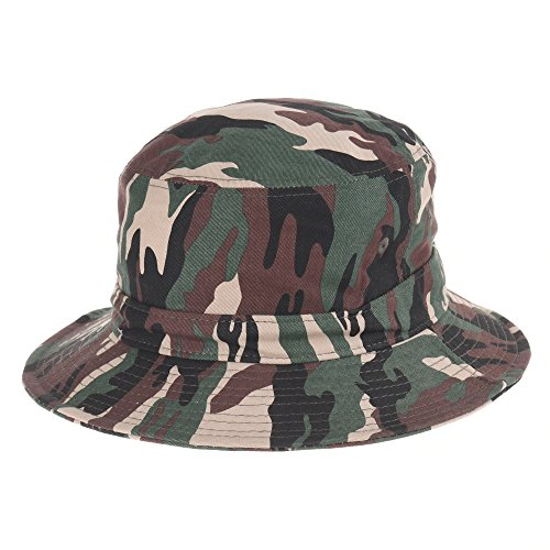 WITHMOONS-Fischerhte-Cotton-Bucket-Hat-Camouflage-New-York-Embroidery-KR2191
