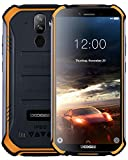 DOOGEE S40 Android 9,0 Télephone Portable Debloqué Incassable, 5,5 '' IP68 / IP69K Smartphone Etanche 4G Double SIM, 4650mAh, Cameras 8MP+5MP, 2GO RAM 16GO ROM, NFC Empreinte Digitale Face ID, Orange