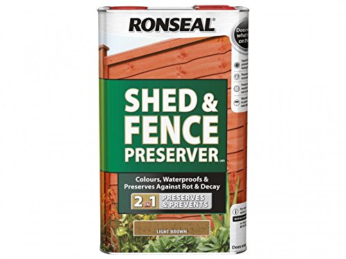 Ronseal SFWPDB5L Shed & Fence Wood Preservative Dark Brown 5 Litre