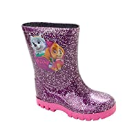 Girls PAW Patrol Purple Glitter Wellies Wellington RAIN Snow Boots UK Size 5-10
