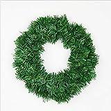 Wuwenw Weihnachtskranz Green Naked Garland Weihnachtsschmuck Weihnachtskranz Rohmaterial, 40Cm