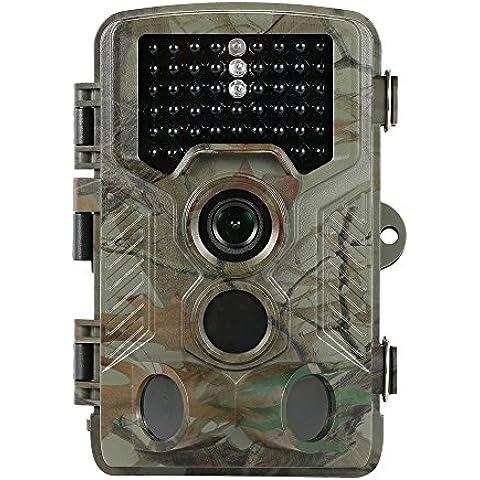 Docooler 12MP Fotocamera da Caccia HD 1080P Sentiero di Gioco Security Cam 125 ° PIR Obiettivo Grandangolare Visione Notturna