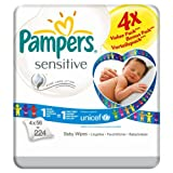 Pampers Sensitive Baby-Feuchttücher Refill 6 x 4 Pack x 56 pro Packung