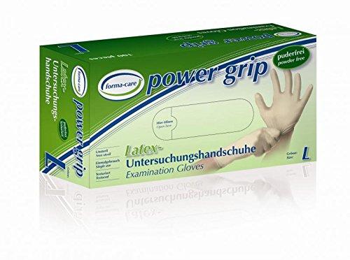 10 Boxen Forma-Care Power Grip Gr. L 14040 Latex Untersuchungshandschuhe / 1000 Stück -