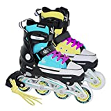 Unbekannt Tempish Inlineskates Magic Rebel blau/gelb Gr. 37-40, 40-43 verstellbar (37-40 verstellbar)