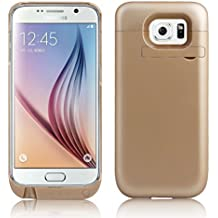 ZOGIN para Samsung Galaxy S6 G9200 4500mAh Funda de Batería Externa / Funda Protectora Cargador / Funda de Batería Integrada Recargable de Alta Capacidad, Color Oro