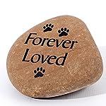 Signs & Numbers Hand crafted medium pet memorial pebble 4