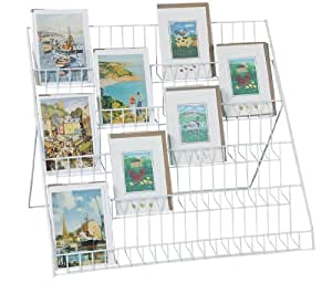 Stand-store Lightweight Collapsible Greeting Card Display Stand - White