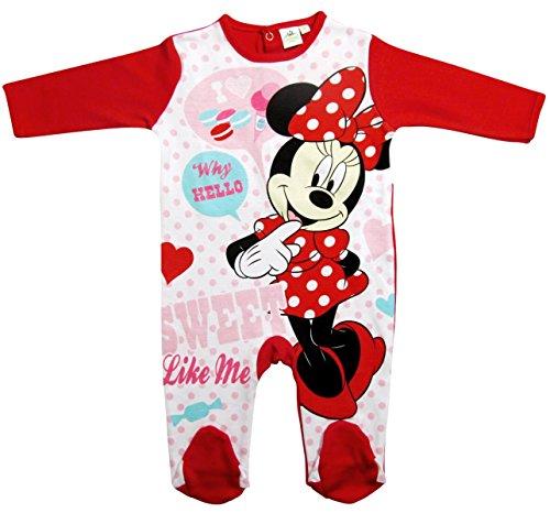 Minnie Mouse Kollektion 2017 Strampelanzug 56 62 68 74 80 86 92 Strampler Einteiler Maus Disney Rot (80 - 86; Prime, Rot) (Strampelanzug Pyjama Mädchen)