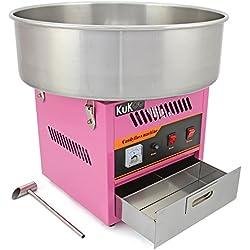KuKoo - Machine à Barbe à Papa Professionnelle à Bol en Acier Inoxydable de 50cm pour Fêtes et Autre Evènements