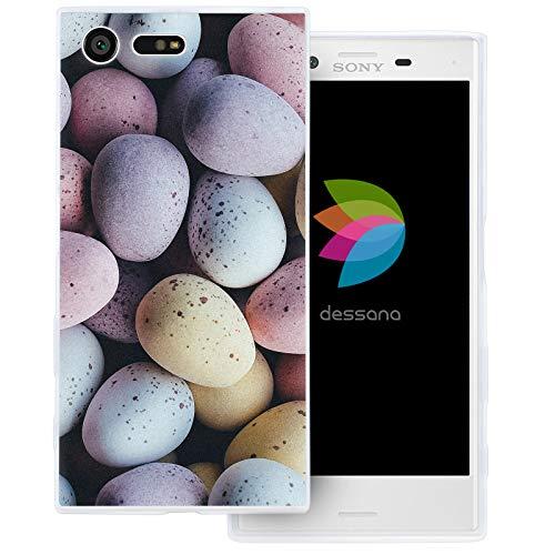 dessana Candy Süßigkeiten Transparente Schutzhülle Handy Case Cover Tasche für Sony Xperia X Compact Oster Eier