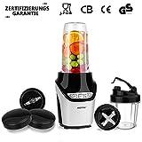 Elektrischer Standmixer,Smoothie Blender,BESTEK Küchenmixer 1000W Edelstahl ,Hochleistungsmixer mit 27.500 U/min Drehza