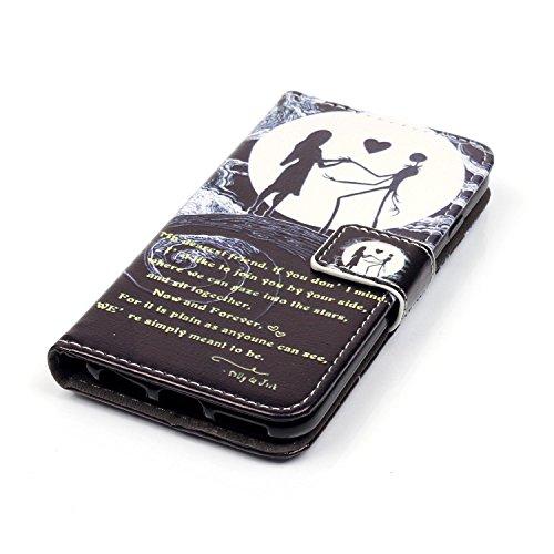 Voguecase® für Apple iPhone SE hülle,(Katzenbär 03) Kunstleder Tasche PU Schutzhülle Tasche Leder Brieftasche Hülle Case Cover + Gratis Universal Eingabestift Tänzerin