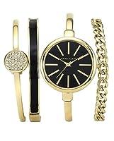 Anne Klein mujeres de la caja de reloj de cuarzo con esfera analógica y pulsera de acero inoxidable de Anne Klein