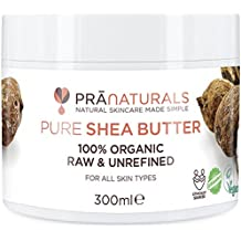 PraNaturals Manteca de Karité Hidratante 100% Orgánica 300ml, Protección UV para Todo Tipo de