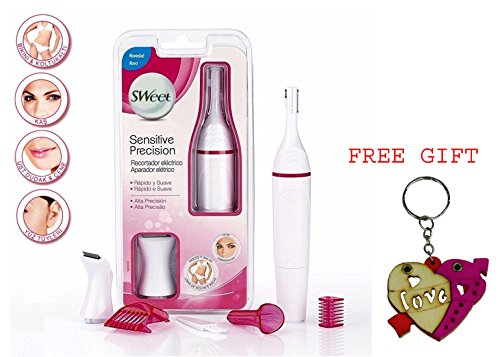 Sweet Sensitive Trimmer for Women Eyebrow Bikini Trimmer With Free key ring Gift  available at amazon for Rs.499