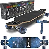 SKATRO Drop Through Longboard Skateboard Freeride - Includes T-tool