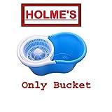 #9: HOLME'S Easy Magic Floor Mop 360° Bucket PVC (Mop Bucket Only, Assorted Color)