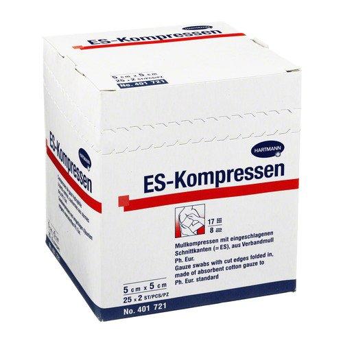 ES-Kompressen Hartmann steril 5 cm x 5 cm, 25 x 2 St.