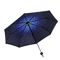Folding Windproof Umbrellas, Romantic Dreamlike Star Pattern Canopy, Special Coating with Anti-UV Protection, Sun or Rain Umbrella, Portable for Easy Carrying