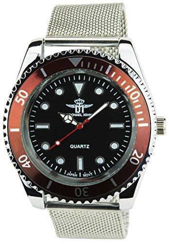 michael-john-orologio-uomo-argento-quarzo-nero-bordo-cassa-acciao-display-analogico-cinturino-acciao