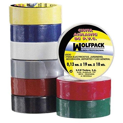 Wolfpack 14060001 - 10x19 nastro isolante nero