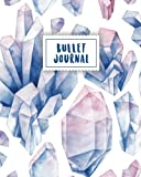 Bullet Journal: Blue Gemstone Watercolor | 150 Dot Grid Pages (size 8x10 inches) | with Bullet Journal Sample Ideas