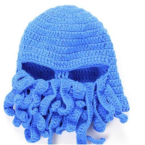 Lookout Unisex Warm Knit Squid Cap für Erwachsene Barbaren Bart Mütze Beanie handgefertigt Octopus (Kostüme Erwachsene Barbaren)