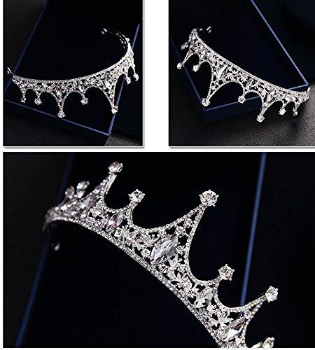 CROWN Princess Tiara, Braut Hochzeit Schmuck, Diamant, Hochzeit Haarschmuck, QUEEN KRONE (Gold Queen's Tiara)