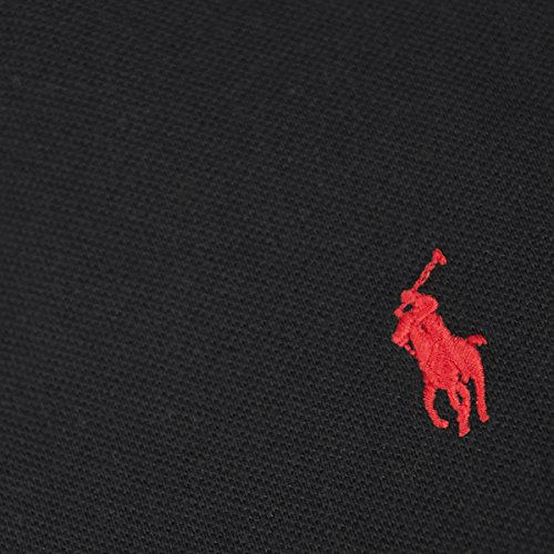 Ralph Lauren Herren Kurzarm Poloshirt - Classic Fit - Premium Cotton Negro (Noir)