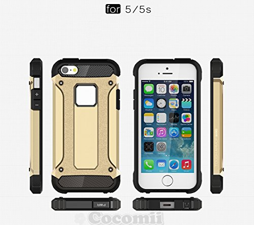 iPhone SE / 5S / 5C / 5 Coque, Cocomii Commando Armor NEW [Heavy Duty] Premium Tactical Grip Dustproof Shockproof Hard Bumper Shell [Military Defender] Full Body Dual Layer Rugged Cover Case Étui Hous Rose Gold