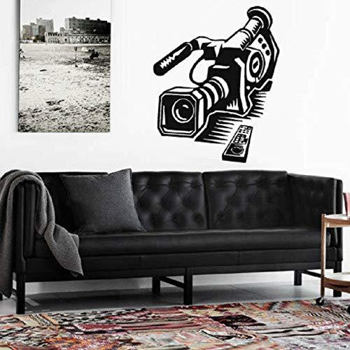 lsweia Wand Vinyl Aufkleber Decals Wandbild Raumgestaltung Muster Kunst Videokamera Pograph Movie Action große größe Kamera 57 * 70 cm
