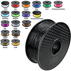 TIANSE Filamento de PLA para la impresora 3D / Pluma 3d, 1 kg 1,75 mm(Negro)