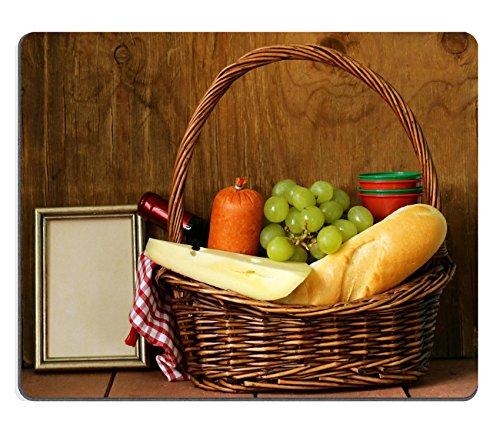 Luxlady Gaming Mousepad immagine ID: 26300194Cestino da picnic vino frutta formaggio e salsiccia