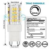 Tenlion G9 LED-Leuchtmittel, 5 x Warmweiß 5 W 2835 SMD Energiesparend dimmbar LED Leuchtmittel, 480 Lumen 3000 K AC 220-240 V