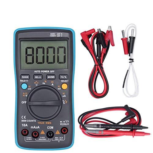 Dergtgh Digitale Auto-Bereich TRMS 8000 Counts AC/DC Stromspannung Frequenz Multimeter mit Hintergrundbeleuchtung