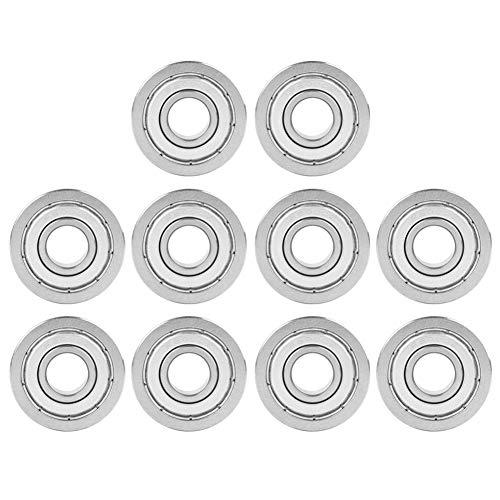 10pcs F6000ZZ doppelt geschirmtes Lager , F6000ZZ doppelt geschirmte Miniatur-Flanschkugellager 10x26x8mm -