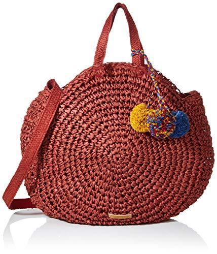 Esprit Accessoires Damen Ronda Tote Henkeltasche, Rot (Bordeaux Red), 8x40x40 cm
