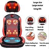 AMYMGLL Multi-funzione cuscino della sedia del massaggio a casa 3D sfera di massaggio impastare funzione di riscaldamento trattamento magnete registrazione libera la terapia a raggi infrarossi per la parte (gambe, glutei, vita, alla schiena, al collo) , 1